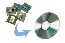 Servicio De Escaneo de transferencia 35mm deslice dos diapositivas en 44mb cada archivo de tamaño de la imagen