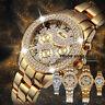 MISSFOX Luxury Watch Women Feminino Chronograph Roman Gold Quartz Wristwatches