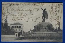 LEGNANO Monumento alla Battaglia e Casa Clerici animata viagg 1929  f/p #21803
