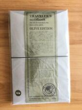 Travelers Notebook Olive Edition Regular Size Leather Cover Limited Edition