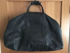 Black Faux-Leather Travel Bag Luggage Carry-on