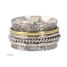 Meditation Ring Statement Ring Size Sr917 Solid 925 Sterling Silver Spinner Ring