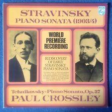 STRAVINSKY Piano Sonata 1904 World Premiere recording etc.