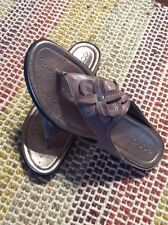 Womens Shoes Size 10-10.5 Ecco Groove Woodrose Sandals Eu 41 New W/Box