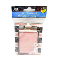 "Jot Stripes And Roses Mini Clipboard With Notepad 40 Sheets 3.25"" x 3.50"""