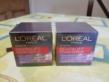 2 × L'Oreal Paris Revitalift Filler Renew Anti-Ageing Day Cream 50ml NEW.