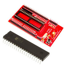 ATMEL Mini Project Board RED with IC AT89S52 IC External TX,RX, GND,