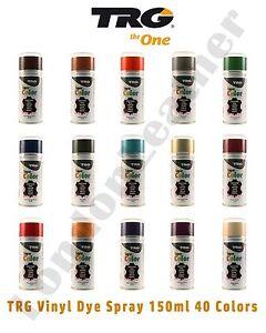 TRG Leather Vinyl Dye Spray/Shoe/Boot/Car Seat/Handbags 150ML (All Colours)