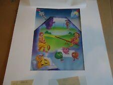 Original McDonalds production artwork happy meal box Ronald Grimace  Birdie