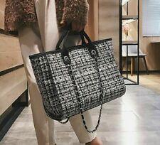 Women Luxury Handbags Fashion Tote Big Capacity Wool Leisure Casual Shopping Bag