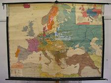 Schulwandkarte Map Europa Europe 19 JH. Century 3mio, 198x153c vieja schulkarte