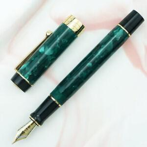 Green Jinhao 100 Centennial Resin Fountain Pen EF/F/M Bent Nib Writing Gift Pen