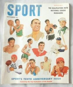 Ted Williams Rocky Marciano George Mikan September 1956 SPORT Magazine ex