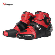 Men Women Motocross Riding Street Shoes Motorcycle Racing Ankle Boots Off-road