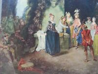 ANTIQUE PRINT 1908 THE FRENCH PLAY BY ANTOINE WATTEAU PAINTINGS ART MASTERS