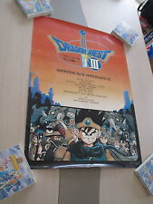 DRAGON QUEST III 3 ENIX FAMICOM NES RPG B2 SIZE OFFICIAL POSTER!
