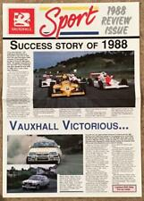 VAUXHALL SPORT 1988 Motor Sport Publicity in Newspaper format