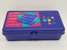 Vintage Caboodles Organizer Make Up Box w/ Mirror Jewelry Case Purple 1990's