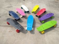 """22"""" skateboard Plastic deck High Quality Bearings Penny Style Board Ups shipping"""