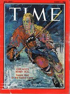 1968 (March 1) Time magazine, Bobby Hull, Chicago Blackhawks ~ Good