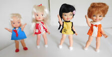 Vintage 1960's Remco Hi Heidi & Family 4 Pocketbook Dolls w/ Orig. Clothes