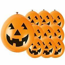 10 x Halloween PUMPKIN Balloons Orange Balloons Pumpkin Face Party Decorations