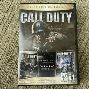Call Of Duty Deluxe Edition Box Set 6 Discs for PC.  Complete with Key.