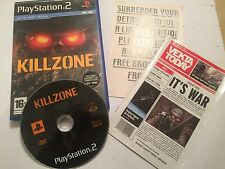 PLAYSTATION 2 PS2 GAME KILLZONE 1 I +BOX & INSTRUCTIONS COMPLETE PAL GWO