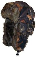 Hardwoods Camouflage Russian/Hunters W/Soft Faux Fur Winter Hat, Ski - Maple