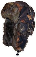Hardwoods Camouflage Russian/Hunters W/Soft Faux Fur Winter Hat, Ski #145 Maple