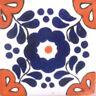 C#109) MEXICAN TILES CERAMIC HAND MADE SPANISH INFLUENCE TALAVERA MOSAIC ART