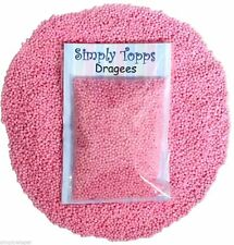Pink Pearl Dragees 1mm (30g) Cake Decoration Sprinkles balls Cupcake
