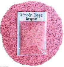 Rosa Perla PELADILLAS 1mm (30g) Perlas Brillo Decoración Pasteles, cupcakes