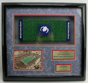 Mobil Cotton Bowl Tribute Display Case with Astro Turf Jim Mann 40 of 75