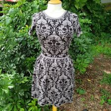Romeo + Juliet Couture Women's Sz XS Gray Damask Fit & Flare Sweater Dress