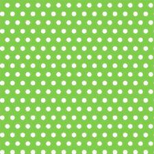 """Polka Dot Gift Wrap Paper 16' x 30"""" Kiwi Green"""