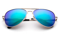 Girls Boys Polarized Aviator Sunglasses Spring Hinge Frame Flash Mirror Lens