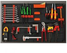 Plastique outils support stockage kit support mural louvre panel board garage organisateur