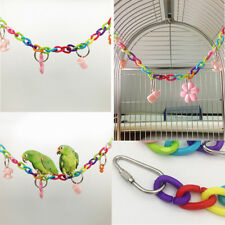 Colorful Bird Toy Parrot Swing Cage Toys For Parakeet Cockatiel Budgie Lovebi~GN