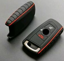 Silicone fob key case cover for BMW F10 F20 F30 F40☆Red☆Keyless☆with 2 buttons
