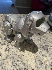 Vintage 90's Tekno Manley Quest Robotic Puppy Dog Silver Interactive Robot Toy