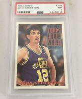 John Stockton 1993 Topps All Star #102 Psa 7 Utah Jazz Low Pop