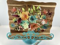 """The Pioneer Woman Willow 10.4"""" Cookbook Holder Rustic Book Wood Stand"""