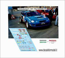DECALS 1/43 TOYOTA CELICA GT4 TOHT RALLY SANREMO 1996