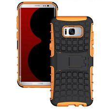 Custodia Ibrida 2teilig Esterni Arancione per Samsung Galaxy S8 Plus G955F