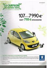 Publicité Advertising 2006 Peugeot 107