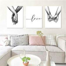 Leinwandbild Schwarz Weiß Liebe Händchenhalten Bilder Bild Leinwand Wohnzimmer