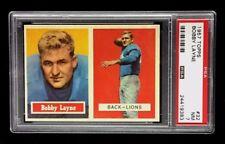 BOBBY LAYNE 1957 TOPPS FOOTBALL CARD # 32  PSA 7  NM / HIGH GRADE DETROIT LIONS