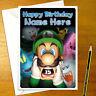 LUIGI'S MANSION Personalised Birthday Card - personalized mario greeting gamer