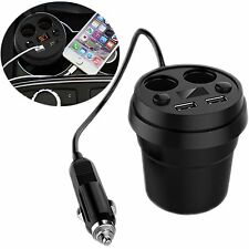 4 Way Multi-Socket Car Cup Cigarette Lighter Splitter USB Plug Adapter Charger